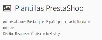 Plantillas Prestashop