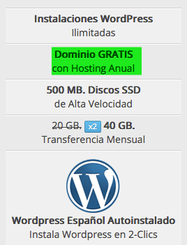 dominio gratis con hosting