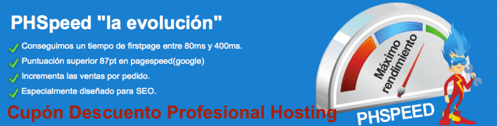 Cupon descuento Profesional Hosting