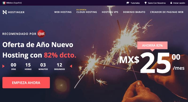 Hospedaje web Mexico