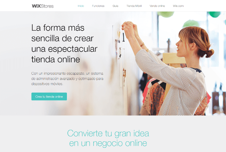 crear tienda online gratis wix