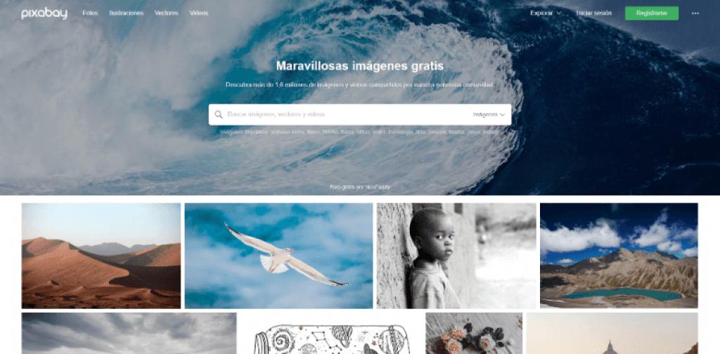 Pixabay es un banco de imágenes vectoriales