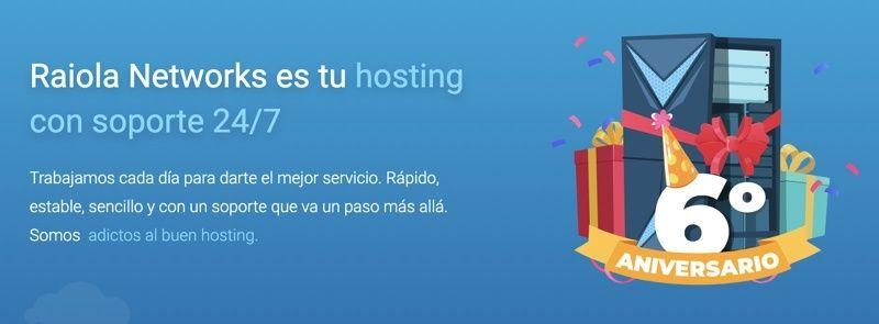 Cupón de descuento Raiola Networks 6º Aniversario
