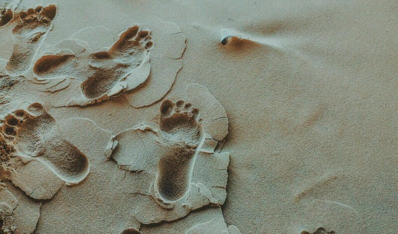 footprints en español