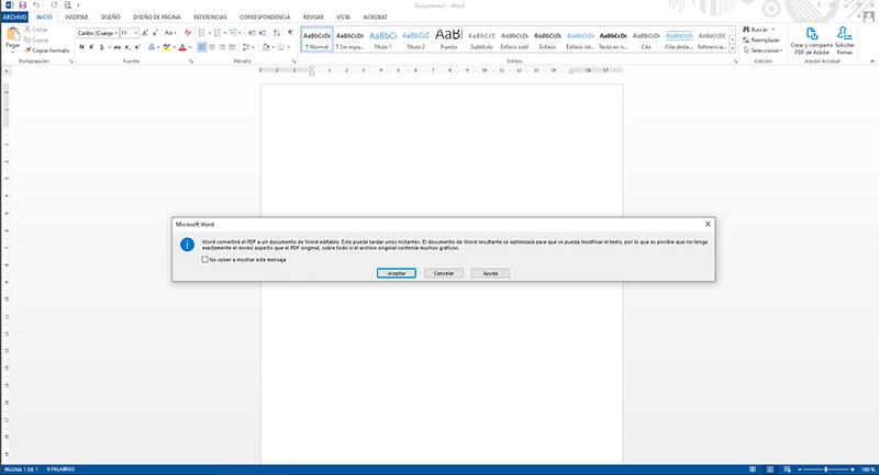 como pasar de pdf a word sin programas gratis