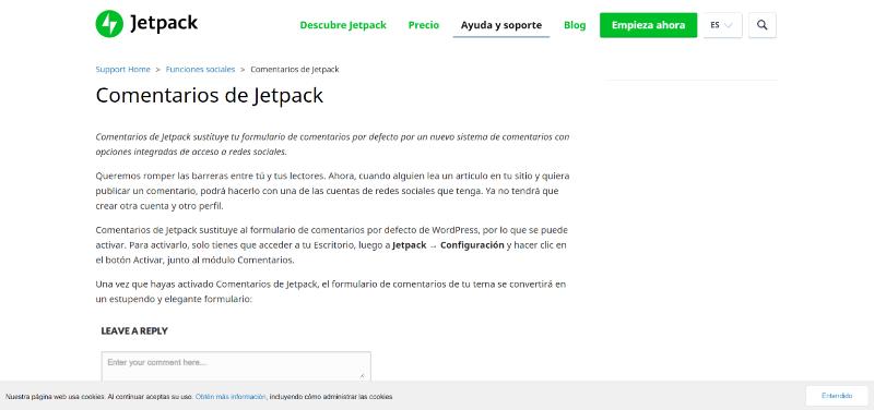 Jetpack para comentarios