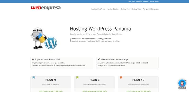 Webempresa hosting panamá