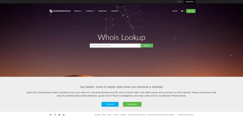 DomainTools WHOIS