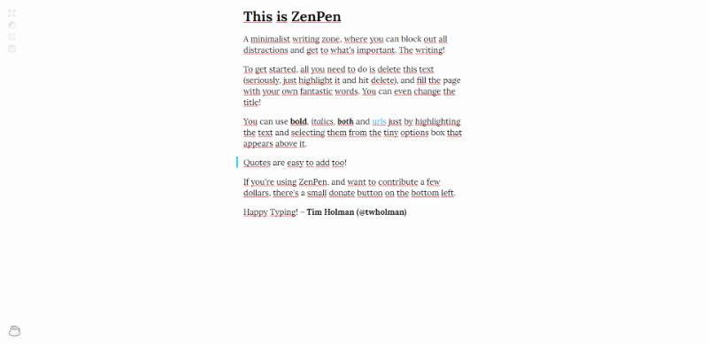 editor de textos online zenpen