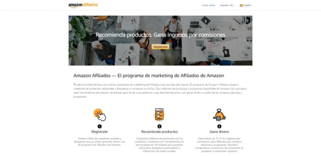 pagina principal Amazon Ads