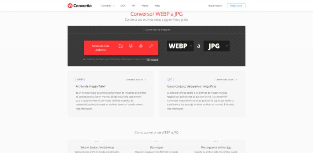 Convertir imagen a webp