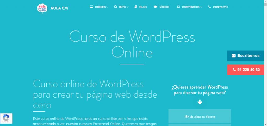 Curso de WordPress Online Aula CM