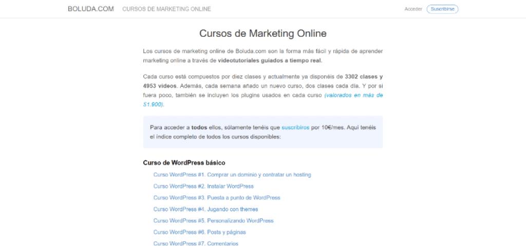 Curso de Marketing Online Joan Boluda